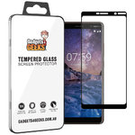 Full Coverage Tempered Glass Screen Protector for Nokia 7 Plus - Black